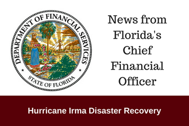 News from Florida's Chief Financial Office for people affected by Hurricane Irma.png
