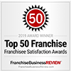Franchise Business Review Top 50 Franchise Satisfaction Award